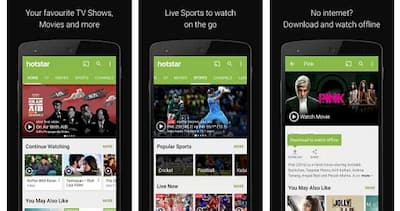 Download hotstar app