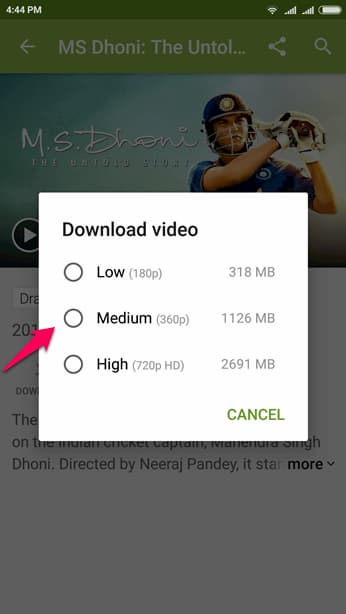 steps to Download Hotstar Videos