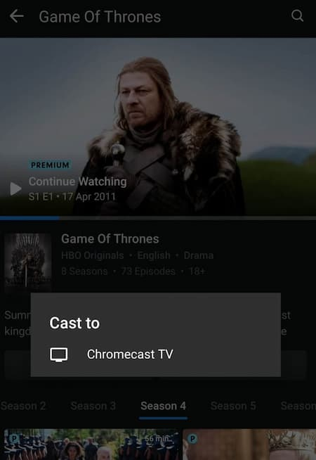 how to cast hotstar on tv on smartphone