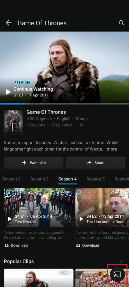 how to cast hotstar on tv using mobile
