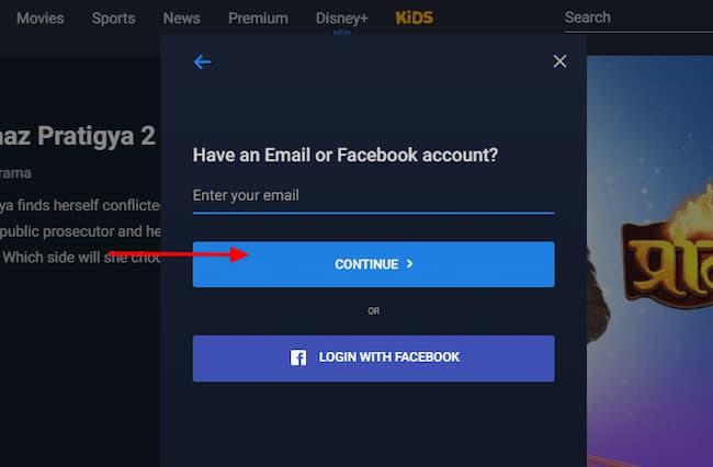 how to change hotstar password on website