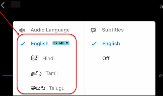how to change language in hotstar for ios