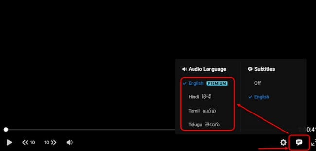 how to change language in hotstar for pc